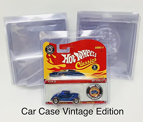 Car Case Hot Wheels Vintage Edition Protector For Redlines 5ct.
