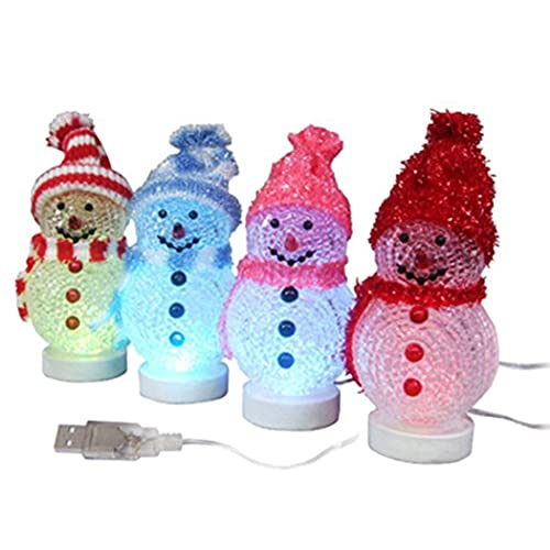 Desk christmas decorations amazon christmas decoration usb colorful light emitting the snowman one pc greentooth Gallery