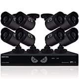 Night Owl Security, 16 Channel 1080 Lite HD Analog Video Security System with 1 TB HDD and 8 x 720p HD Wired Cameras (Black)