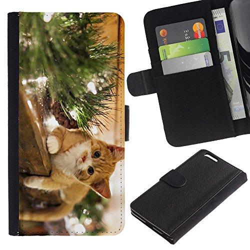 EuroCase - Apple Iphone 6 PLUS 5.5 - The Happy Cat - Cuir PU Coverture Shell Armure Coque Coq Cas Etui Housse Case Cover