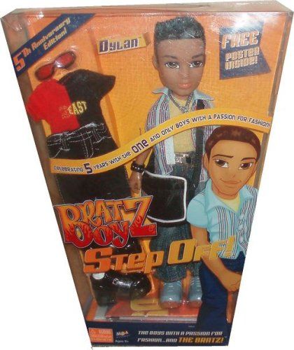 Bratz Boyz Step Off Exclusive 5th Anniversary Edition 10 Inch Doll - DYLAN the Fox with 2 Sets of Outfits, 2 Pairs of Shoes, Sunglasses, Messenger Bag, Comb and (Boy Bratz Dolls)