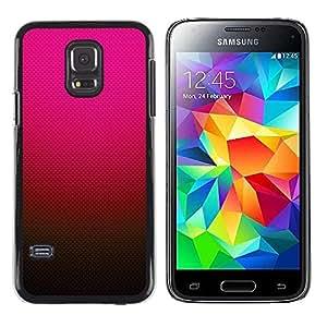 FECELL CITY // Duro Aluminio Pegatina PC Caso decorativo Funda Carcasa de Protección para Samsung Galaxy S5 Mini, SM-G800, NOT S5 REGULAR! // Gradient Color Pink Red Brown