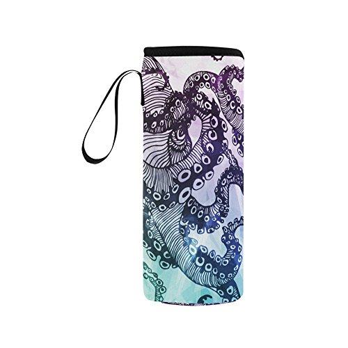 InterestPrint Abstract Octopus Kraken Neoprene Water Bottle