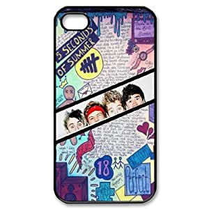 Pop band 5sos art pattern Hard Plastic phone Case Cover For Iphone 4 4S case cover ZDI092693