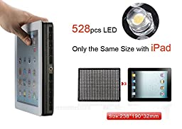 2 * Aputure Amaran AL-528S LED Video Light + 2M(6.5ft) Light Stand