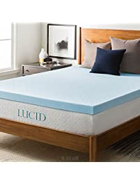 lucid 3inch gel memory foam mattress topper