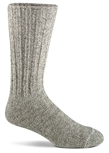 Fox River Norwegian Mid-Calf Wool Boot Socks, Brown Tweed, (Norwegian Ragg Wool Sock)