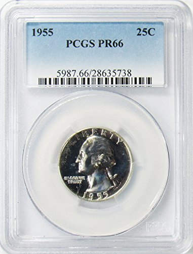 1955 Silver Washington Quarter 25¢ PR66 PCGS