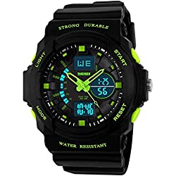 Women's Multifunction Military S-shock Sports Wrist Watch LED Analog Digital Electronic Water Resistant