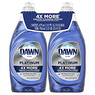 Dawn Platinum Dishwashing Liquid, Refreshing Rain, 16.2 Fl Oz, 2 Count