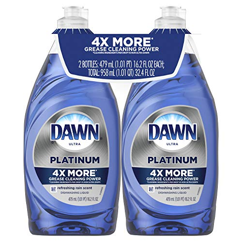Dawn Platinum Dishwashing Liquid Dish Soap Refreshing Rain 2x16.2 oz (Packaging May Vary)