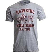 Ann Arbor T-shirt Co. Hawkins Middle School A.V. Club | Vintage Style 80s Costume AV hawkin T-Shirt