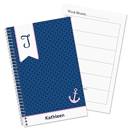 Ribbon Monogram Personalized Weekly Planner Book