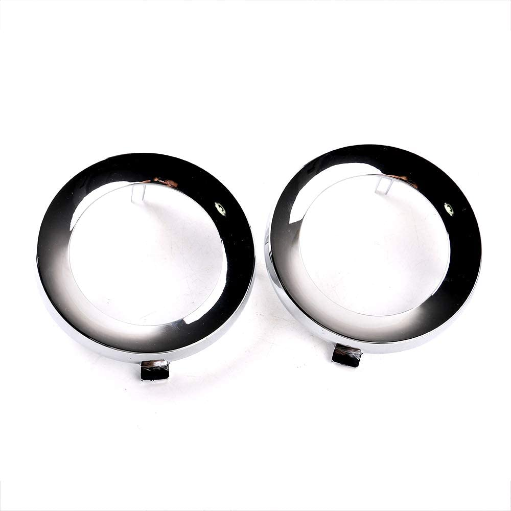 Gofavorland Pair Chrome Fog Lights Ring Cover Bezel Bumper Insert Replacement Trim Left /& Right for Subaru Forester 2009 2010 2011 2012 2013 fit 57731SC000