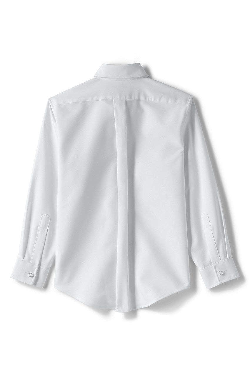 Lands End School Uniform Little Kids Adaptive Long Sleeve Oxford Dress Shirt