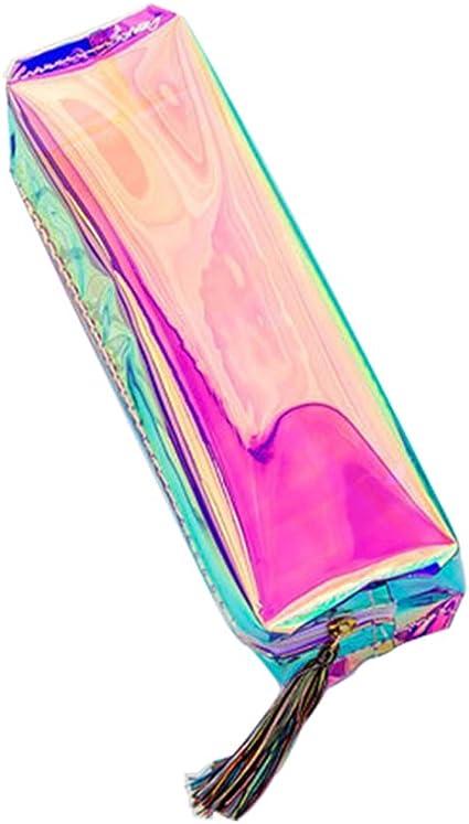 Cosanter Estuche de Lápices Reflectante Color Transparente Estuche Escolar de Gran Capacidad para Oficinas de Estudiantes: Amazon.es: Oficina y papelería