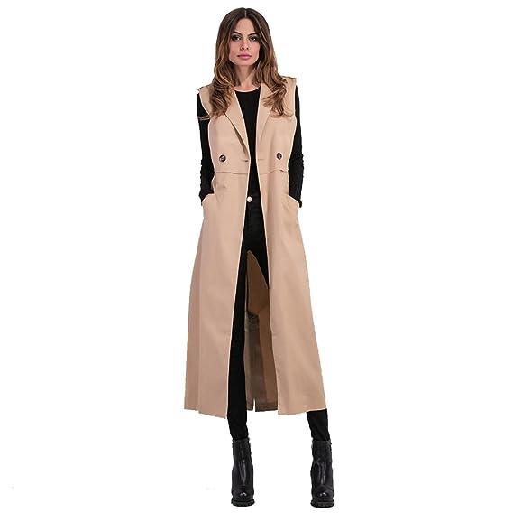 ZKOO Femme Mode Manteaux Gilet Long Femme Cardigan Veste sans Manche  Manteau avec Poche  Amazon.fr  Vêtements et accessoires 3cd0e4a58ddf