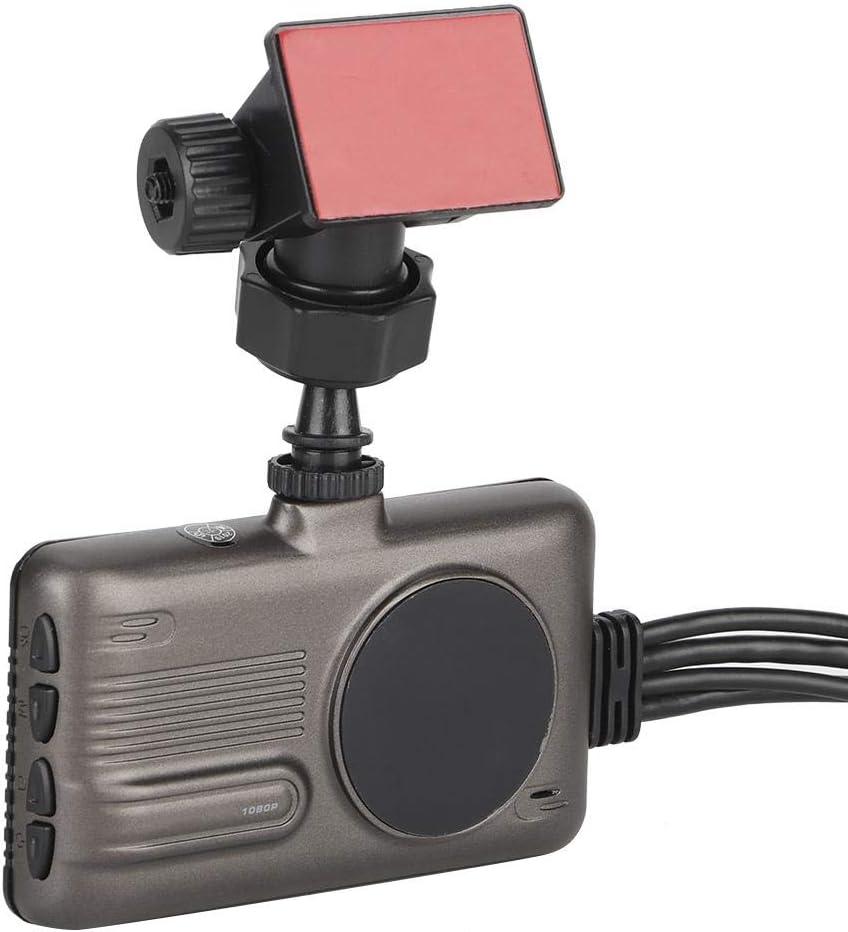 Enregistreur de moto 3 pouces LCD /Écran Double lentille Moto Enregistreur Conduite Cam/éra IP68 Enregistrement Vid/éo /Étanche