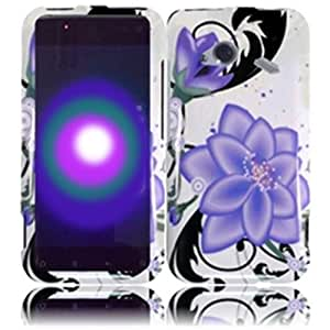 Compatible with HTC Droid Incredible 4G LTE 6410 Fireball Design Cover - Violet Lilly