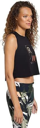 Rockwear Activewear Women's Autumn Haze Logo Front Crop from Size 4-18 for Singlets Tops