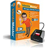 IdentaMaster Biometric Security Software with SecuGen Hamster Pro 20 Waterproof - Software Included Encryption, PC Login for Windows 7/8/10