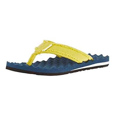 76a40bcc872b52 Weird Fish Cayman Waffle Flip Flop Dark Denim Size 7  Amazon.co.uk ...