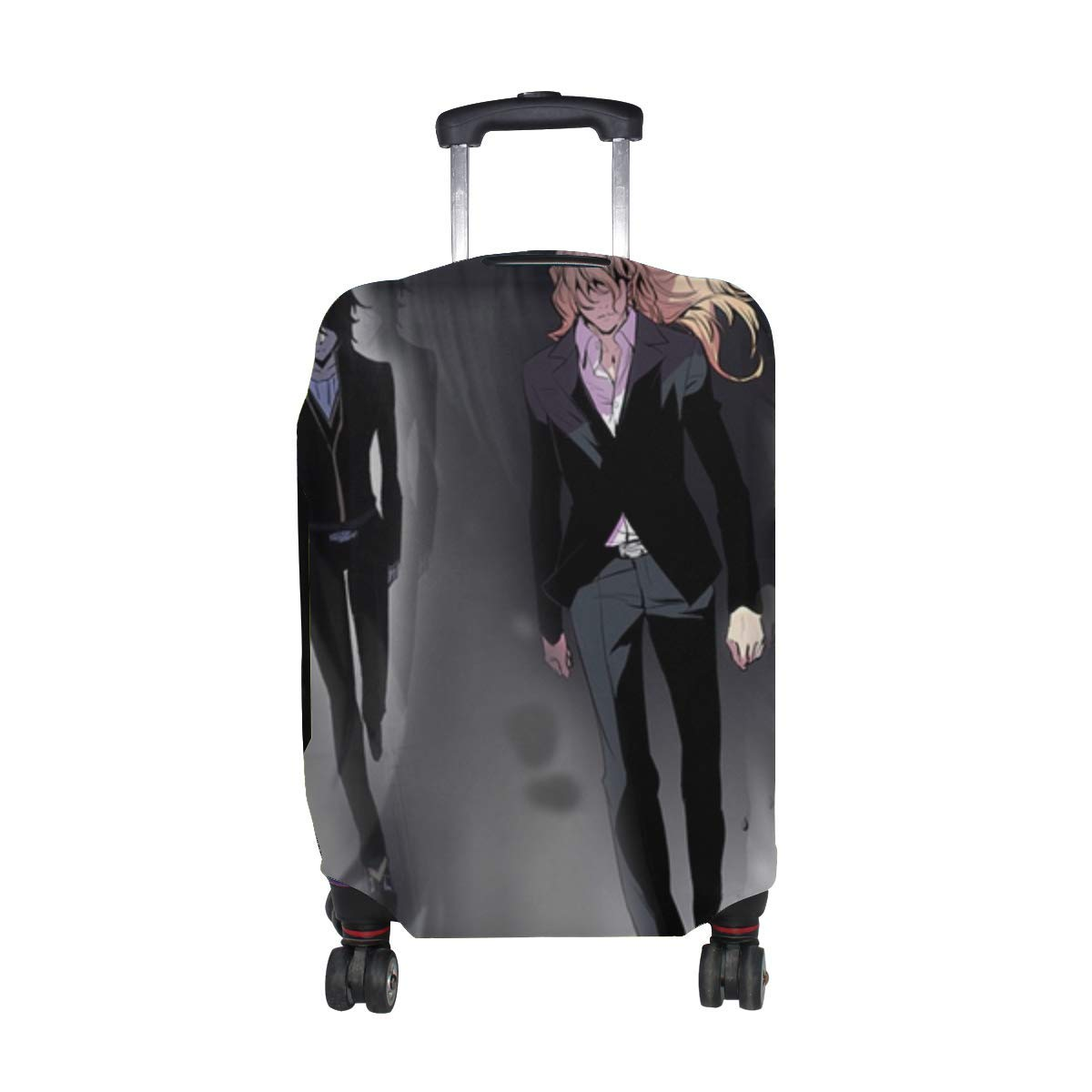 Maxm Cadis Etrama Di Raizel Frankenstein Long Hair Pattern Print Travel Luggage Protector Baggage Suitcase Cover Fits 18-21 Inch Luggage