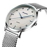 Youwen New Top Luxury Watch Men Brand Mens Watches Ultra Thin Stainless Steel Mesh Quartz Men Wristwatch