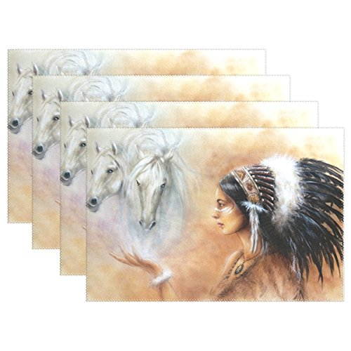 Native American Indian Art Prints Placemat Table Mat, 12