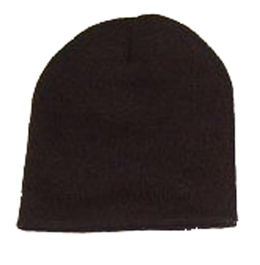 Blank Long Cuff Beanie - Black at Amazon Men s Clothing store  Skull ... 931e8aad78a