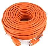 Extension Cords Premium Outdoor Extension Cord 125 Volt Cable 100ft 16/3 Indoor Contractor New