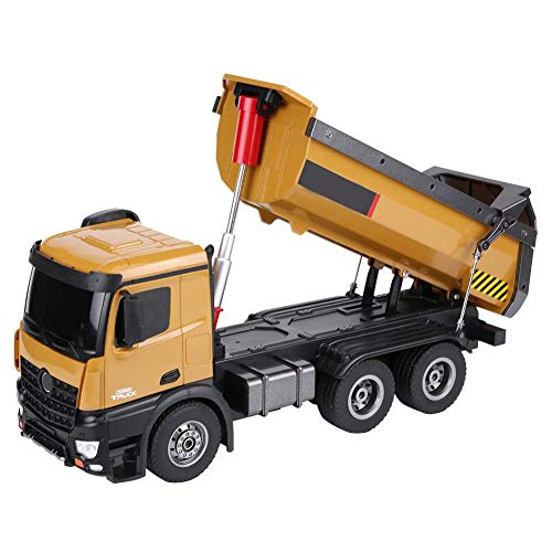 Remote Control Vehicle, HUINA 1573 1/14 Scale 2.4GHz RC Dumping Truck Remote Control Engineering Van Loader Electronics Hobby Toy with Sound and Lights