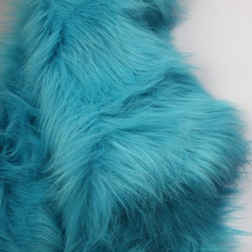 Solid Shaggy Faux Fur Fabric Long Pile Fur Costumes Crafts Photography Props Backdrops Cosplay 60