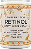 Retinol Moisturizer for Face, Neck and Eye Area with Vitamin E & Hyaluronic