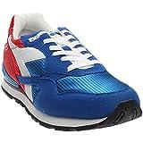 Diadora Men's N-92 Running Shoe, Poppy Red/Imperial Blue,9.5 M US