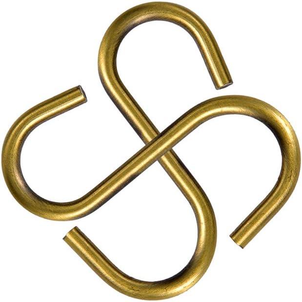 S Haken K/üche Topf Kleiderb/ügel Storage Rack bronze 20/Teile S-Form Haken topind Haken zum Aufh/ängen chrom und Bronze vergoldet f/ür Jewelry Gartenger/äte f/ür Pflanzen