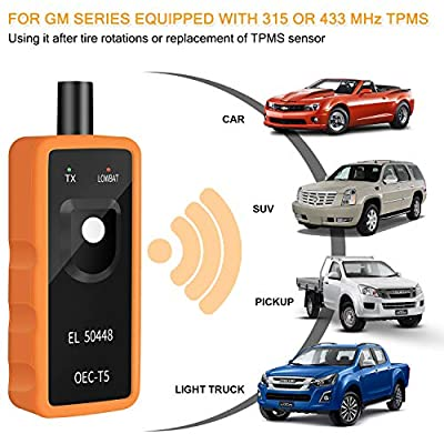 Arozk TPMS Relearn Reset Tool for GM Tire Sensor Pressure Monitor System Programming Training Activation Tool Automotive OEC-T5 EL 50448 Vehicle Series 2006-2020: Automotive