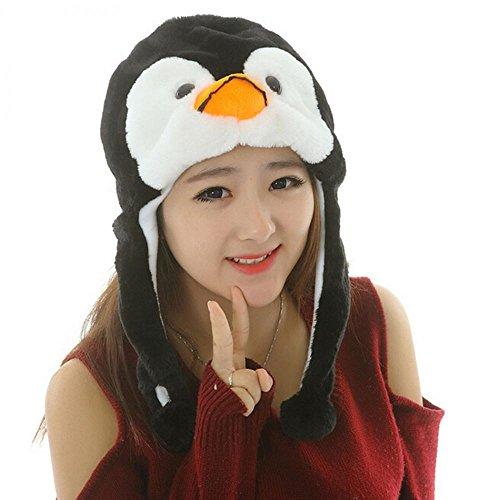 Penguin_(US Seller)Warm Hat Cap 100% Polyester Plush Fluffy