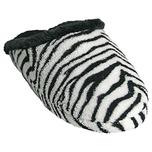 Dawgs Kvinna Skum Slide Scuff Platt Zebra