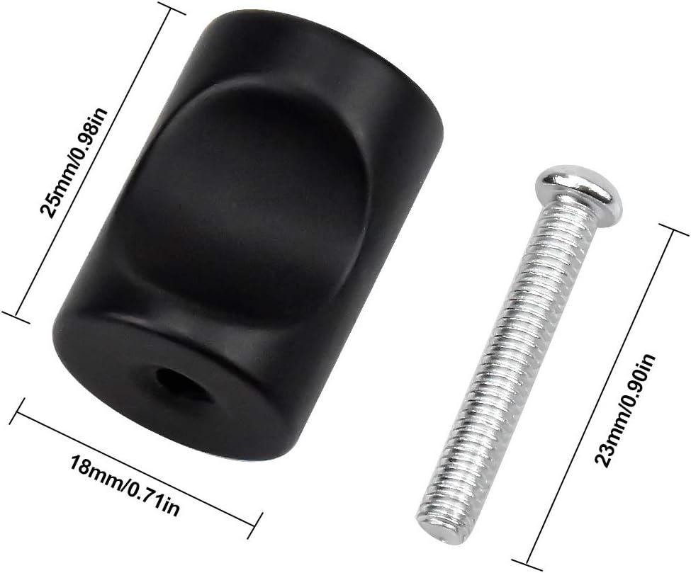 NATUCE 10PCS Negro Pomo de Armario Redondo Tirador para Caj/ón Pomos y Tiradores de Muebles Pomos para Puertas Armarios de Cocina,Cajones Pomos y Tiradores de Muebles para Puertas