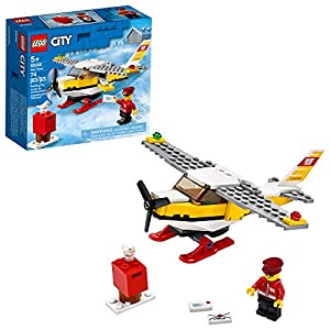 LEGO City Mail Plane 60250 Pretend-Play Toy, Fun Building Set for Kids (74 Pieces)