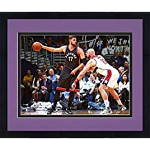 "Jonas Valanciunas Toronto Raptors Autographed 8"" x 10"" Post Move Photograph with ""We the North"" Inscription - Fanatics Authentic Certified"