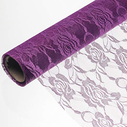 Mesh Packaging Material, Flower Shop Bouquet Decorative Material Birthday Present Wrapper Yarn Paper Wall Decoration Paper, 50450CM (Color : Purple)