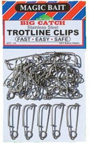 - Magic Bait Trot Line Clip, 25 Per Bag, Silver