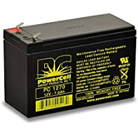 PowerCell Energy Products PC1270 12.0V 7.0 Ah, Maintenance Free, Rechargeable, Sealed Lead, Agm, Battery