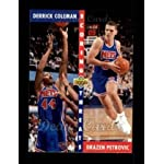 1992 Upper Deck # 502 Scoring Threats Derrick Coleman/Drazen Petrovic New Jersey.