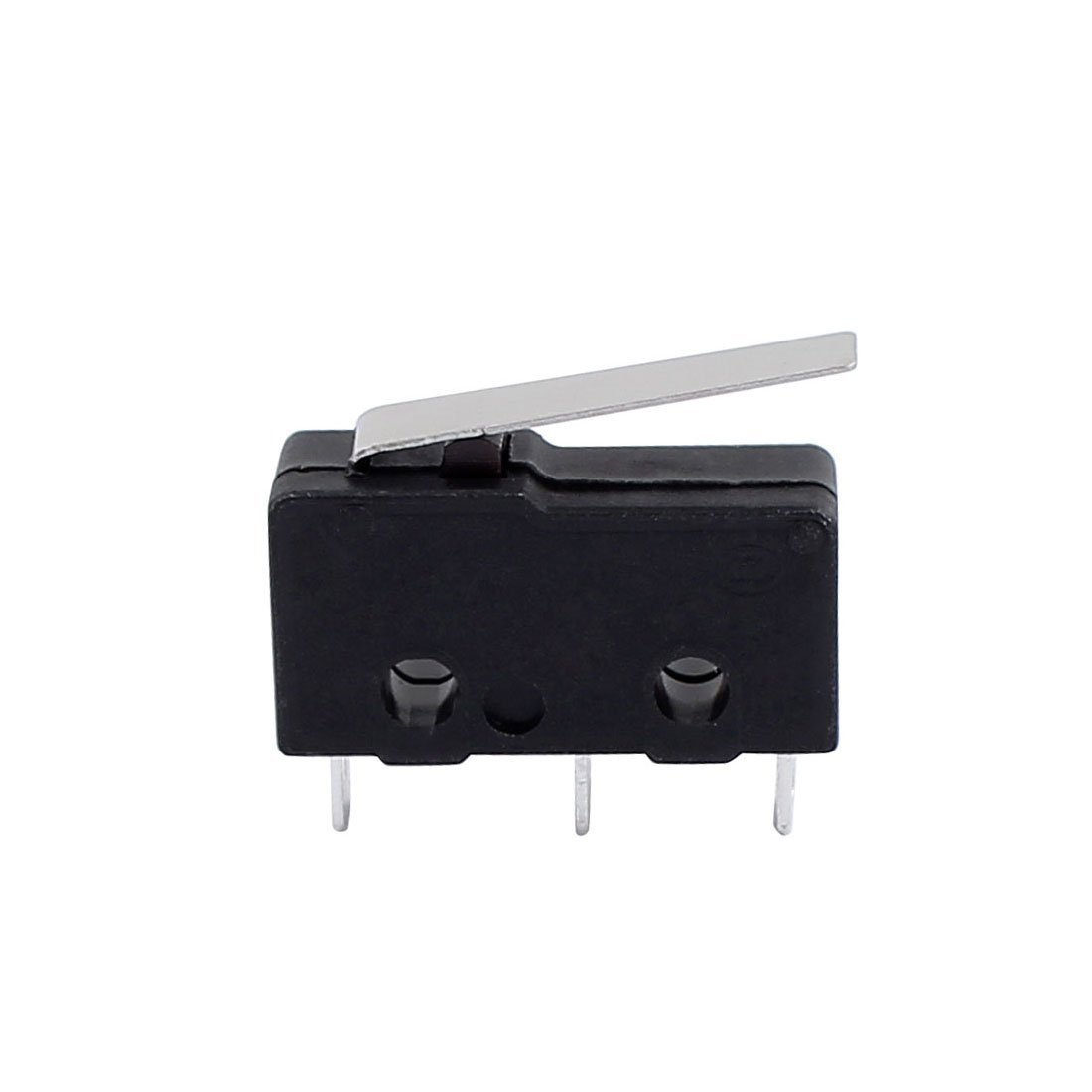 Pack of 10 Uxcell a16121600ux1027 AC250//125V 5 Amp 3 Terminals Momentary 22 mm Lever Arm Micro Switch Black KW12-6