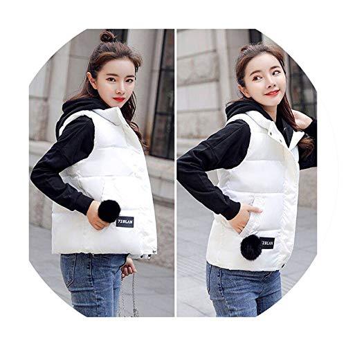 Puissant fishing-vests Vest Women Sleeveless Jacket Coat Female Casual Plus Size Warm Parka Vest Outerwear,White,M (Patagonia Womens Classic Retro X Fleece Jacket)