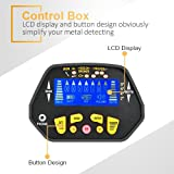 "Metal Detector - High-accuracy Metal Finder with LCD Display, Discrimination Mode, Distinctive Audio Prompt, 10"" Waterproof Search Coil for Underwater Metal Detecting, Metal Detector with P/P Function"
