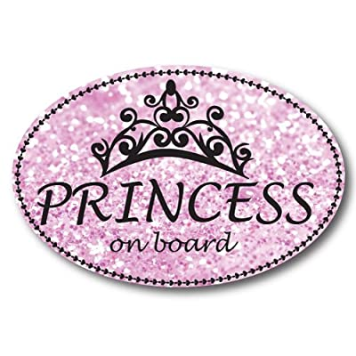 Princess On Board Oval Car Magnet Heavy Duty Waterproof: Automotive